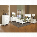 Coaster 5 Piece California King Panel Bedroom Set in White