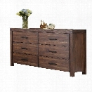 Coaster Lancashire 6 Drawer Dresser in Wire Brushed Cinnamon