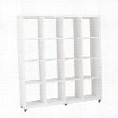 Eurostyle Sabra 4X4 Shelving Unit in White