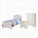 Picket House Furnishings Addison 3 Piece Twin Bedroom Set in White