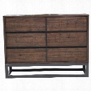 Pulaski Modern Industrial 3 Drawer Dresser in Brown