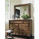 Tommy Bahama Bali Hai 9 Drawer Dresser with Mirror in Warm Brown