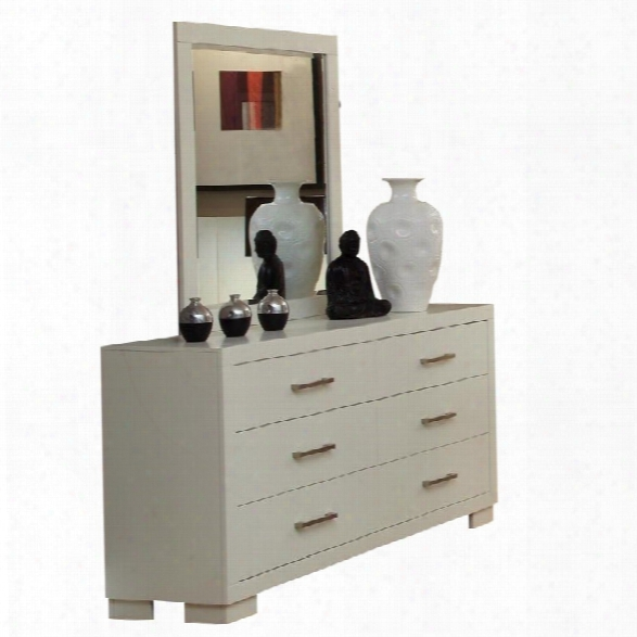 Coaster Jessica Dresser And Mirror Set In White
