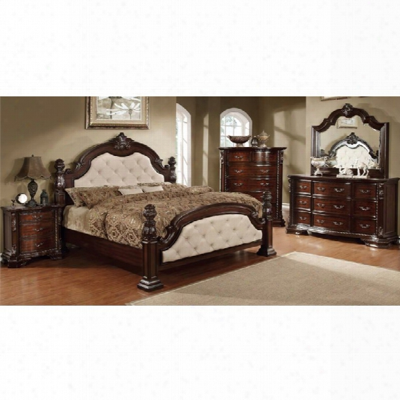 Furniture Of America Cathey 4 Piece California King Bedroom Set