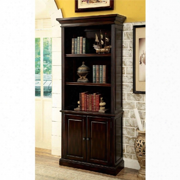 Furniture Of America Kurtis 3 Shelf Bookcase In Cappuccino