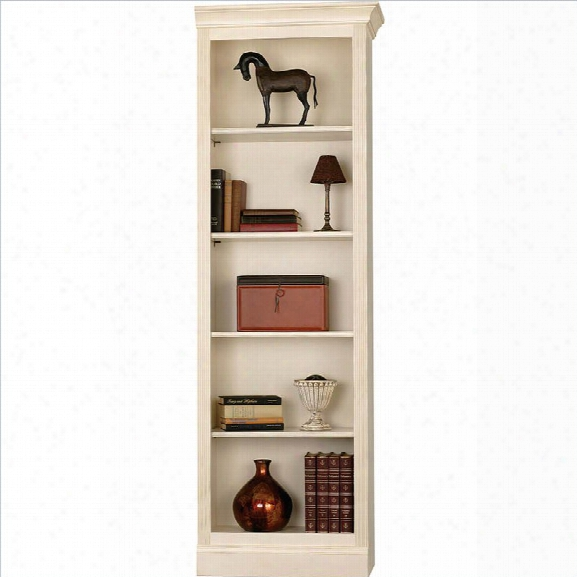 Howard Miller Ty Pennington Oxford Bookcase Right Return In Antique Vanilla