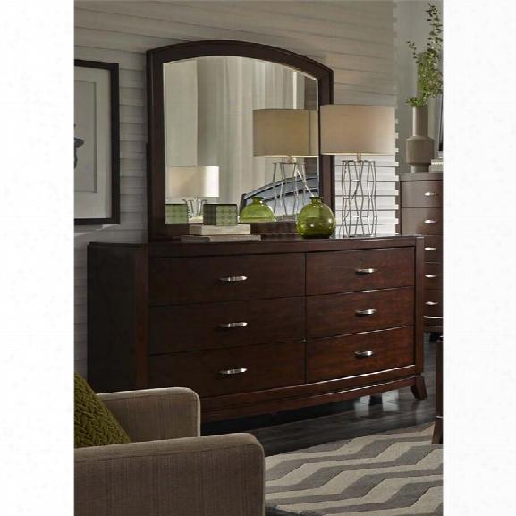 Liberty Furniture Avalon Dresser And Mirror Set In Dark Truffle
