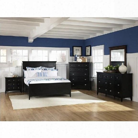 Magnussen Southampton Storage Panel Bed 6 Piece Bedroom Set In Black