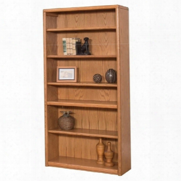Martin Furniture Contemporary Bookcase With 6 Shelves In Medium Oak