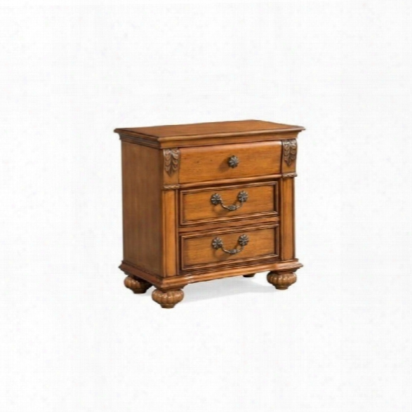 Picket House Furnishings Barrow 3 Drawer Nightstand In Oak