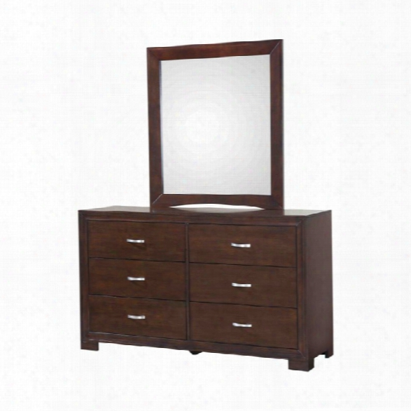 Picket House Furnishings Zoe 6 Drawer Dresser With Mirror In Espresso