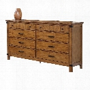 Coaster Brenner 8 Drawer Dresser in Natural and Honey
