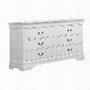 Coaster Louis Philippe 6 Drawer Dresser in White