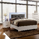 Furniture of America Rayland 2 Piece Queen LED Panel Bedroom Set