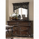 Liberty Furniture Arbor Place Dresser and Mirror Set in Brownstone