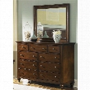Liberty Furniture Hamilton Dresser and Mirror Set in Cinnamon