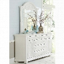 Liberty Furniture Summer House I Dresser and Mirror Set in White