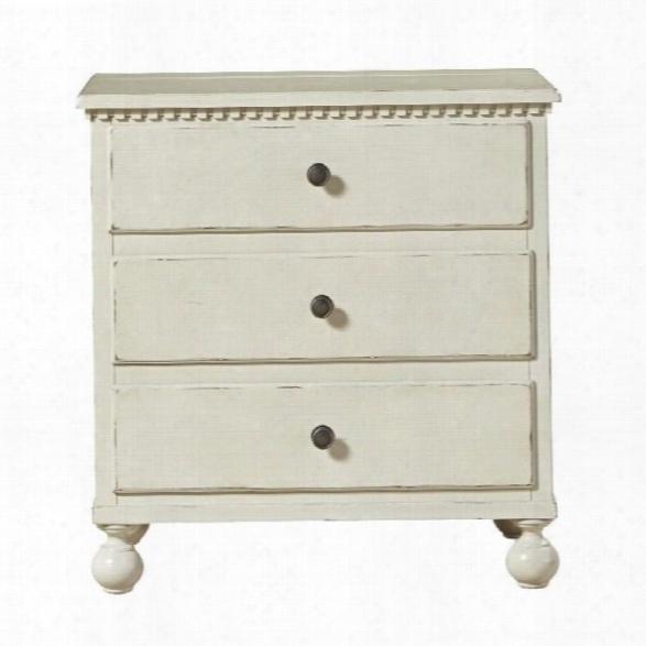 Universal Furniture Sojourn 3 Drawer Nightstand In Summer White