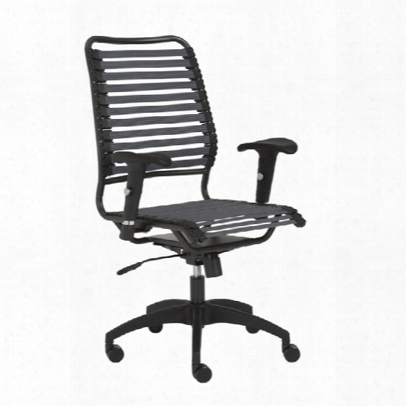 Eurostyle Baba Flat High Back Office Chair In Dark Gray