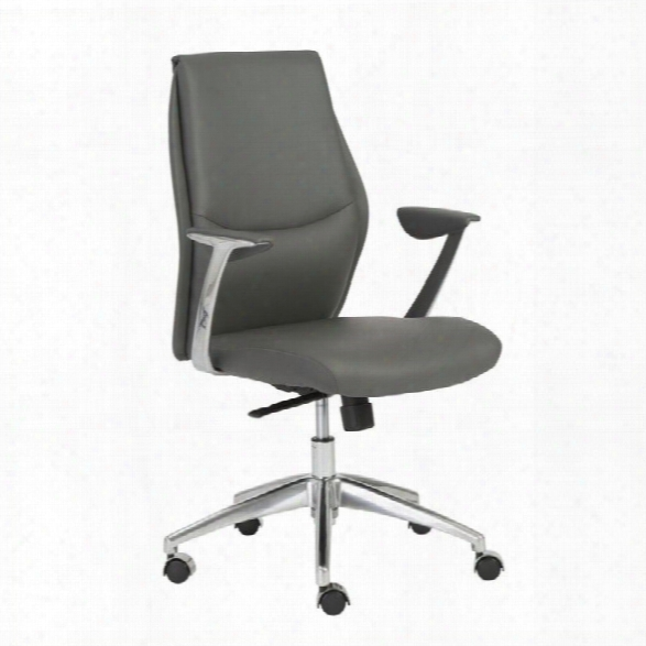 Eurostyle Crosby Low Back Office Chair In Gray