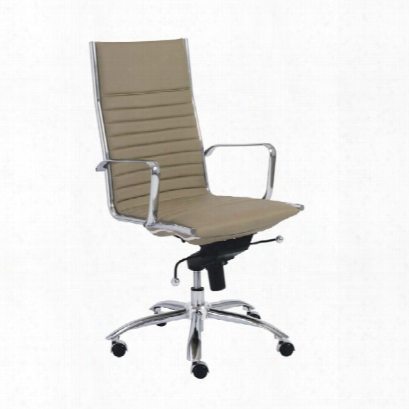 Eurostyle Dirk High Back Office Chair In Taupe