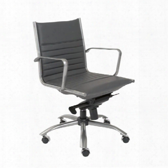 Eurostyle Dirk Powder Coated Low Back Office Chair In Gray