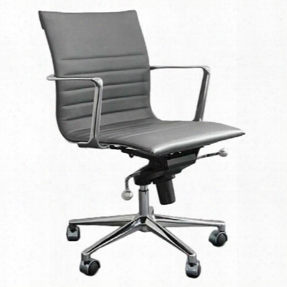 Eurostyle Kyler Low Back Office Chair-black/chrome