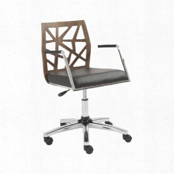 Eurostyle Sophia Office Chair In American Walnut