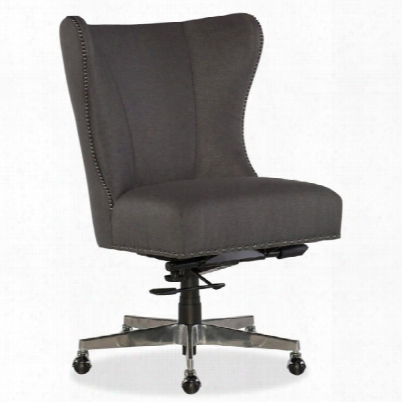 Hooker Furniture Juliet Fabric Upholstered Home Office Chair In Seal