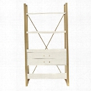 Coastal Living Oasis-Harwell Bookcase in Saltbox White