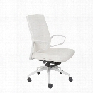 Eurostyle Gotan Powder Coated Low Back Office Chair in White