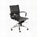 Eurostyle Owen Low Back Office Chair in Black/Chrome