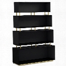 Hooker Furniture Cynthia Rowley Skyline 4 Shelf Bookcase in Black