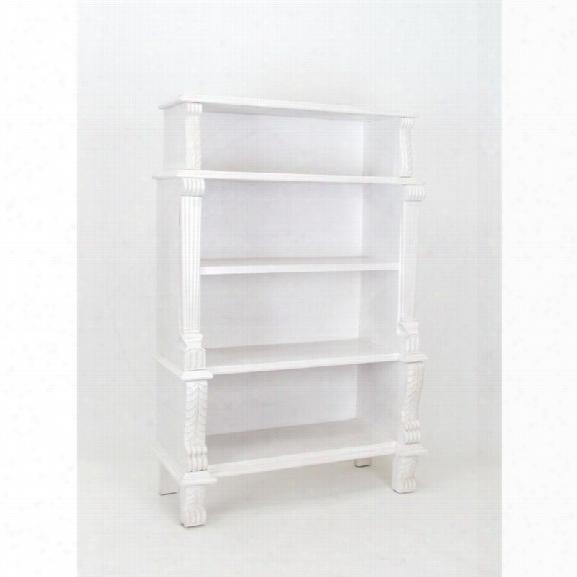 Wayborn 4 Shelf Bookcase In White