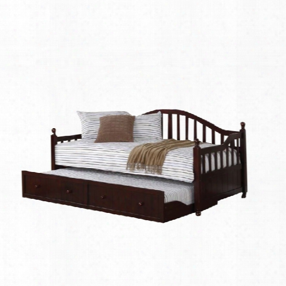 Coaster Daybed With Trundle In Cappuccino
