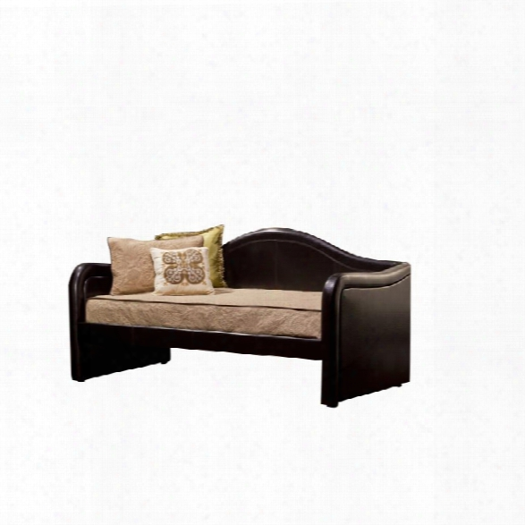 Hillsdale Brenton Faux Leather Daybed In Brown