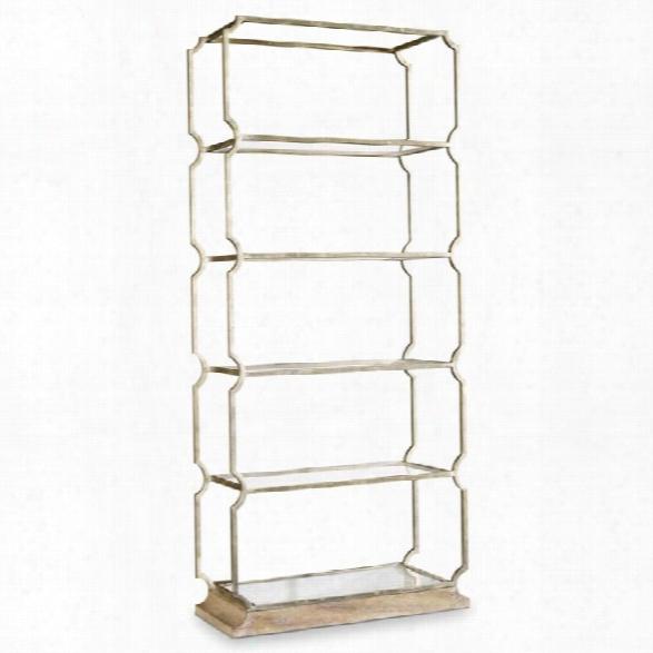 Hooker Furniture Melange Carter Metal 5 Shelf Bookcase
