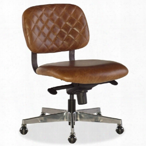 Hooker Furniture Romeo Leather Home Office Chair In Buckaroo Colt
