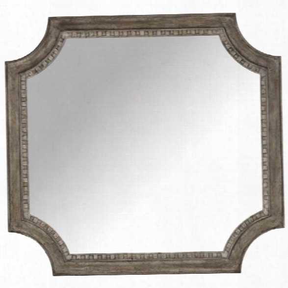 Hooker Furniture True Vintage Shaped Mirror In Light Wood