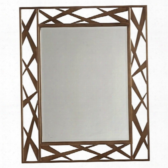Lexington Zavala Arris Metal Mirror In Bronze