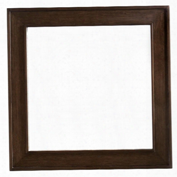 Lexington Zavala Gallerie Square Mirror In Mocha Brown