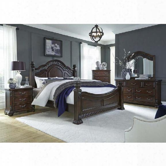 Liberty Furniture Messina Estates 5 Piece Queen Poster Bedroom Set