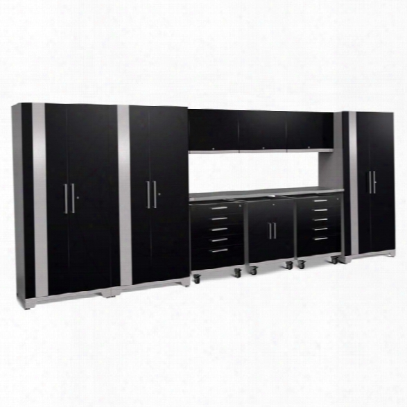 Newage Performance Plus 2.0 10 Piece Cabinet Set In Black