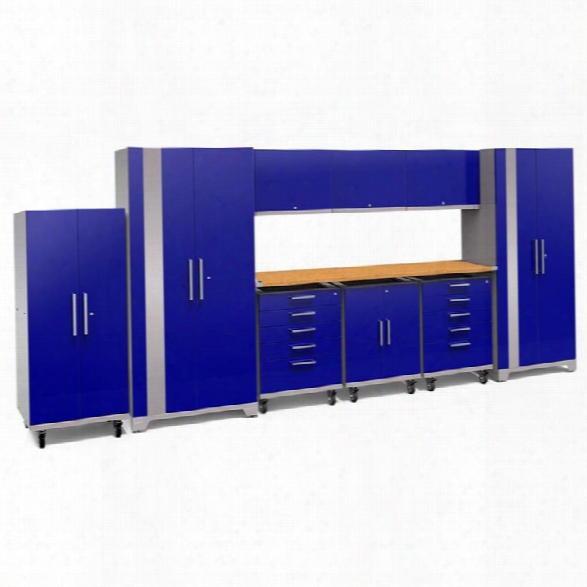Newage Performance Plus 2.0 10 Piece Cabinet Set In Blue