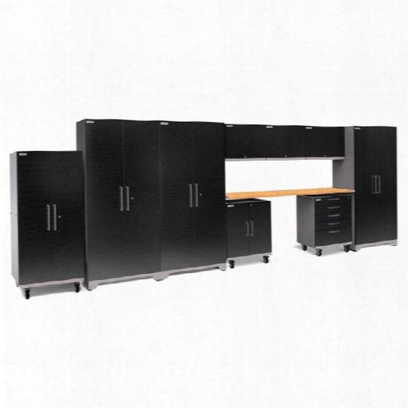 Newage Performance Plus 2.0 10 Piece Diamond Cabinet Set In Black