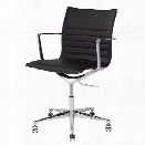 Nuevo Antonio Faux Leather Office Chair in Black