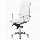 Nuevo Carlo Faux Leather High Back Swivel Office Chair in White