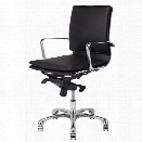 Nuevo Carlo Leather Low Back Office Chair in Black