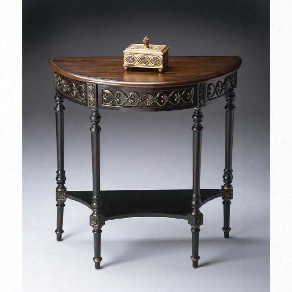 Butler Specialty Demilune Console Table In Cafãƒâ© Nouveau