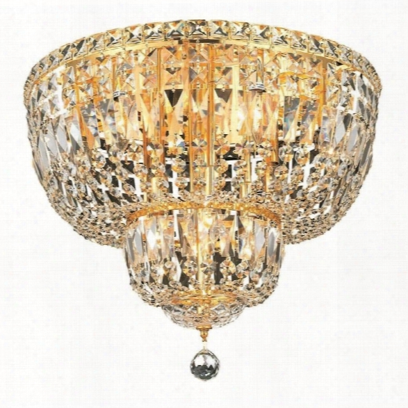 Elegant Lighting Tranquil 20 10 Light Elements Crystal Flush Mount